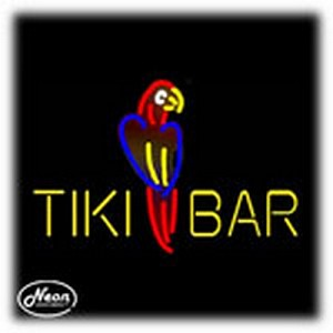 Tiki Bar Parrot Neon Sculpture