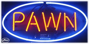 Pawn Neon Business Sign