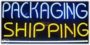 Packaging Shipping Neon Business Sign