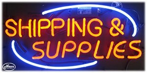 Shipping & Supplies Neon Business Sign