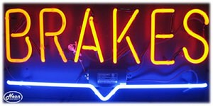 Brakes Neon Business Sign