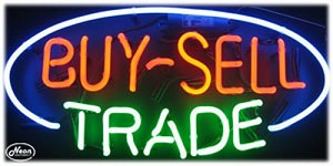 Buy-Sell Trade Neon Business Sign