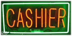 Cashier Neon Business Sign