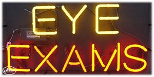 Eye Exams Neon Business Sign