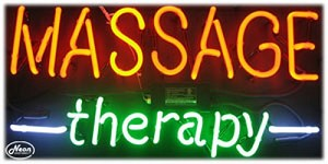 Massage Therapy Neon Business Sign
