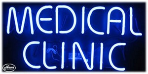 Medical Clinic Neon Business Sign