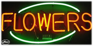 Flowers Neon Business Sign