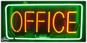 Office Neon Business Sign