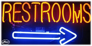 Restrooms Neon Business Sign