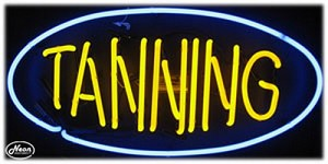 Tanning Neon Business Sign