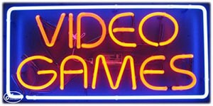 Video Games Neon Business Sign
