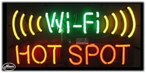 Wi-Fi Hot Spot Neon Business Sign