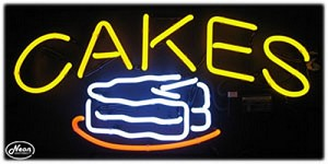 Cakes Neon Business Sign