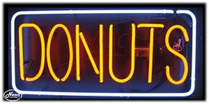 Donuts Neon Business Sign