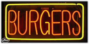 Burgers Neon Business Sign
