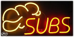 Subs Neon Business Sign