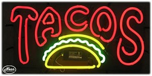 Tacos Neon Business Sign