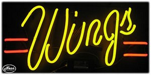 Wings Neon Business Sign