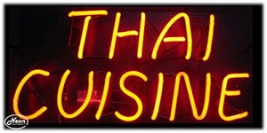 Thai Cuisine Neon Business Sign