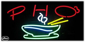 Pho Neon Business Sign