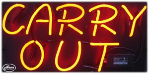 Carry Out Neon Business Sign