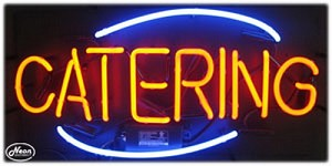 Catering Neon Business Sign