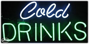 Cold Drinks Neon Business Sign