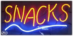 Snacks Neon Business Sign