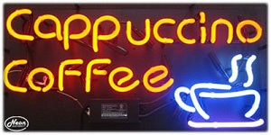 Cappuccino Coffee Neon Business Sign