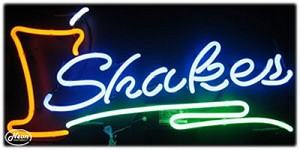 Shakes Neon Business Sign