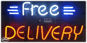 Free Delivery Neon Business Sign