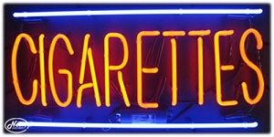 Cigarettes Neon Business Sign
