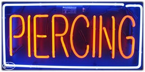 Piercing Neon Business Sign
