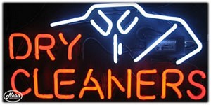 Dry Cleaners Neon Business Sign
