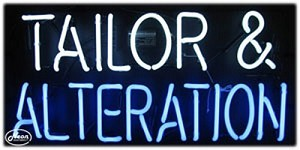 Tailor & Alteration Neon Business Sign