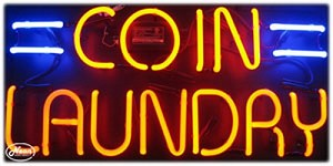 Coin Laundry Neon Business Sign