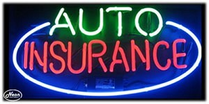 Auto Insurance Neon Business Sign