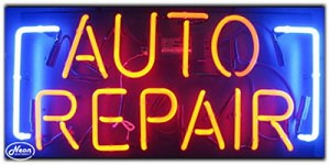 Auto Repair Neon Business Sign