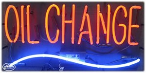 Oil Change Neon Business Sign