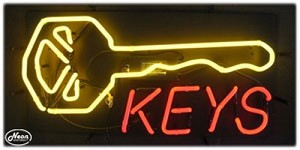 Keys Neon Business Sign