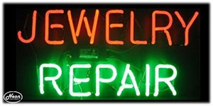 Jewelry Repair Neon Business Sign