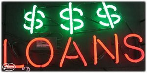 Loans Neon Business Sign