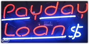 Payday Loans Neon Business Sign
