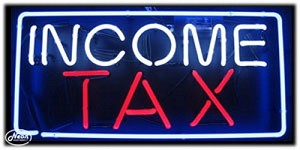 Income Tax Neon Business Sign