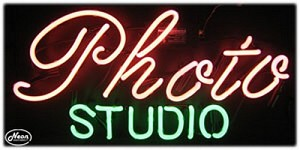 Photo Studio Neon Business Sign