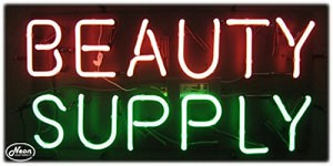 Beauty Supply Neon Business Sign