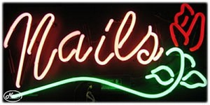 Nails Neon Business Sign