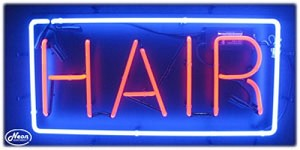 Hair Neon Business Sign