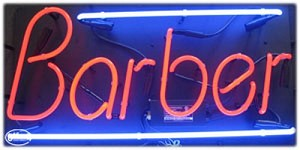 Barber Neon Business Sign