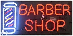 Barber Shop Neon Business Sign